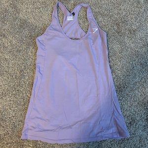 Purple gymshark tank top